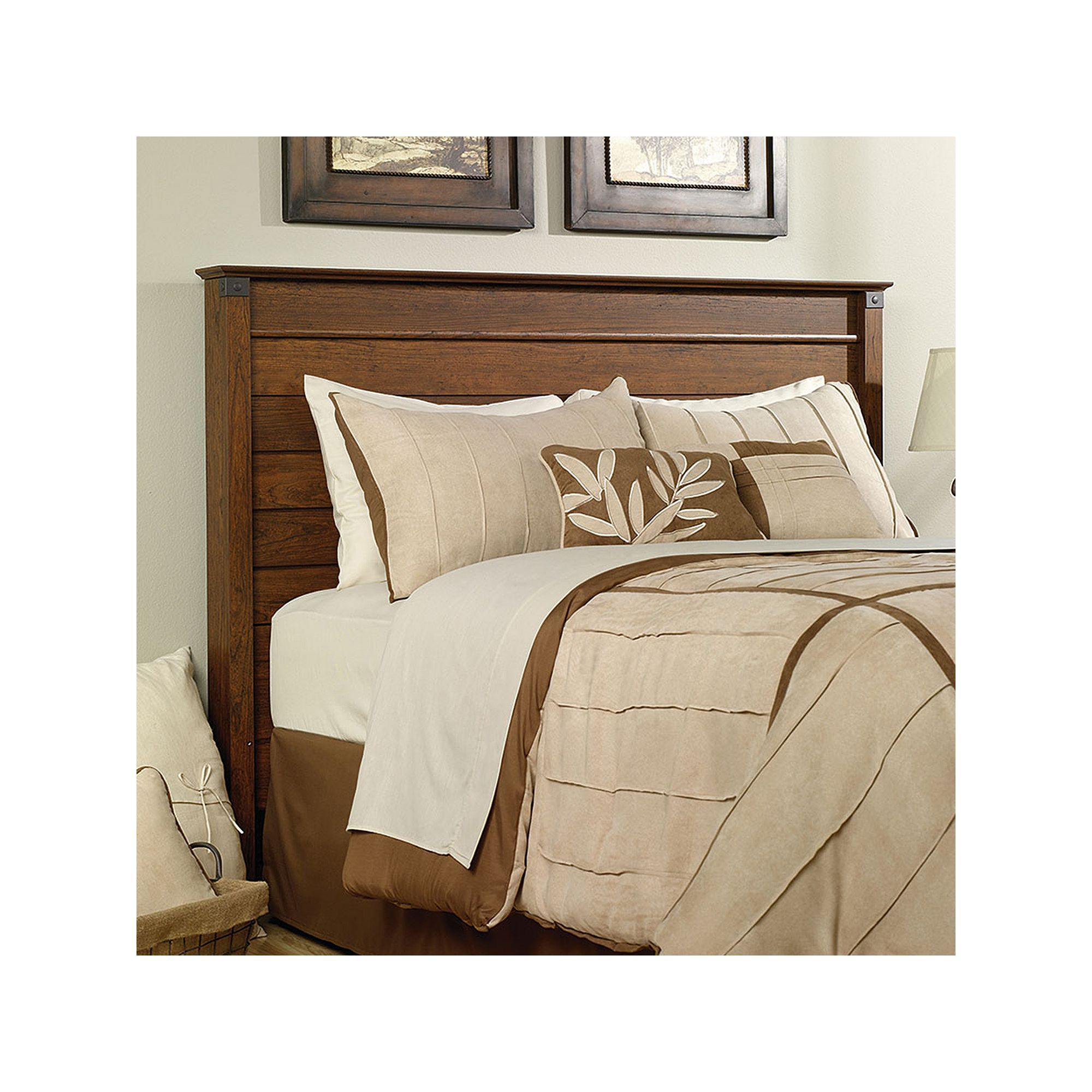 Sauder Carson Forge Collection Full Queen Headboard Brown Bedroom Headboard Bed Furniture