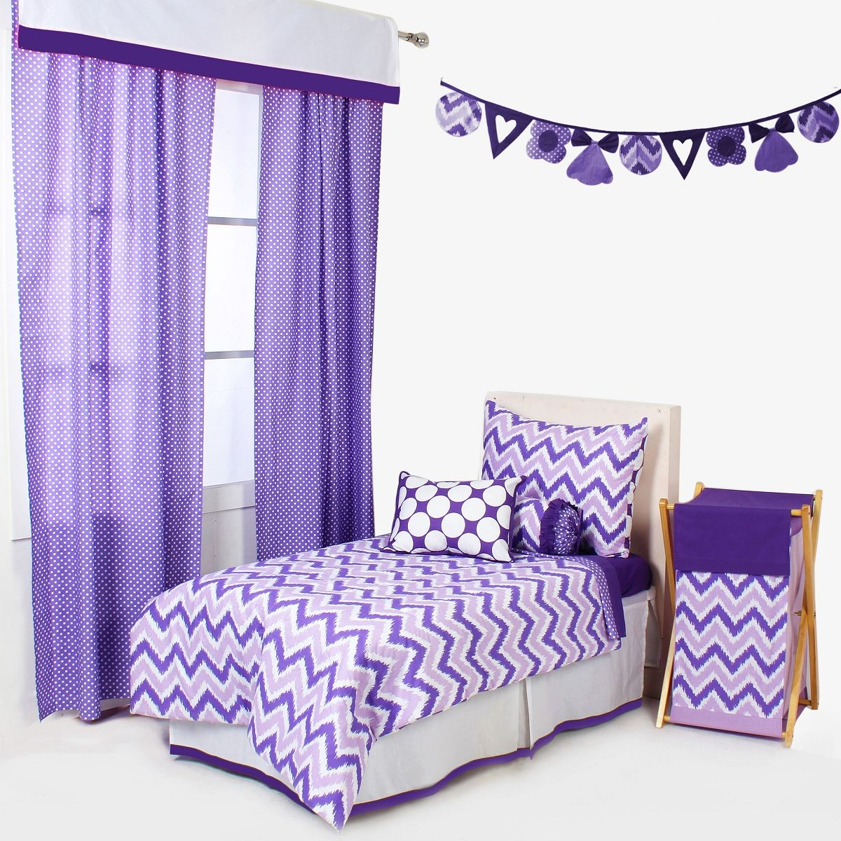 check out ed3ba e4fea MixNMatch Purple 4 pc Toddler Bedding Set   Avery Bailey ...