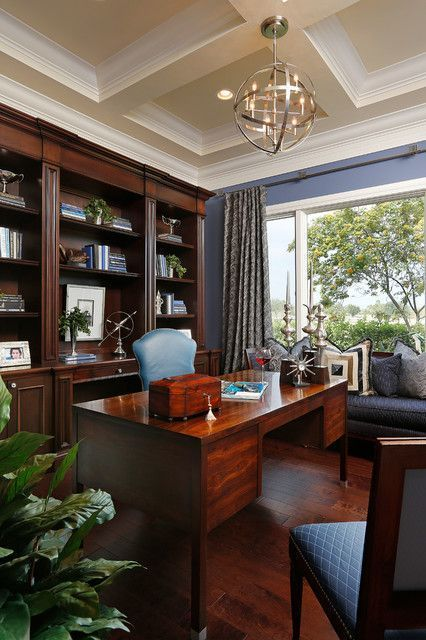 New Home Interior Design Key West Vacation Home: Home Office – Comfortable Working Space. Traditional Style. #Traditionalhomeoffices