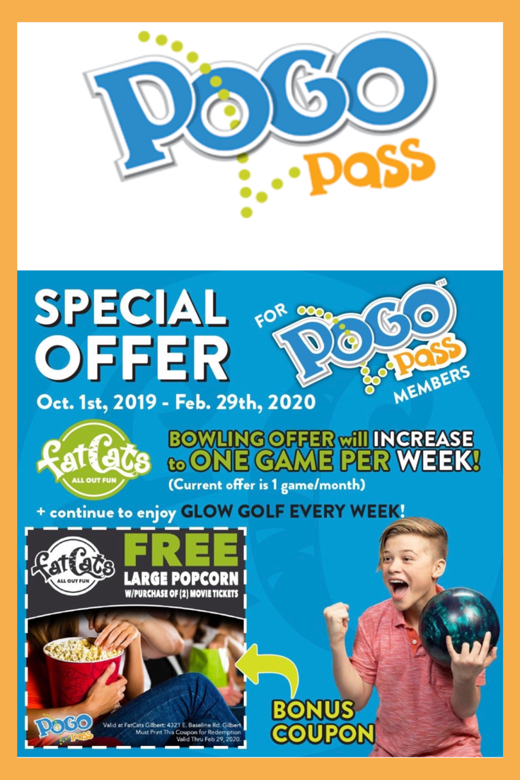 Now Pogo Pass members can enjoy 1 FREE game of bowling & 1