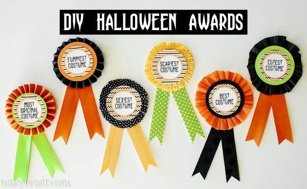diy halloween costume award prize ribbons halloween pinterest