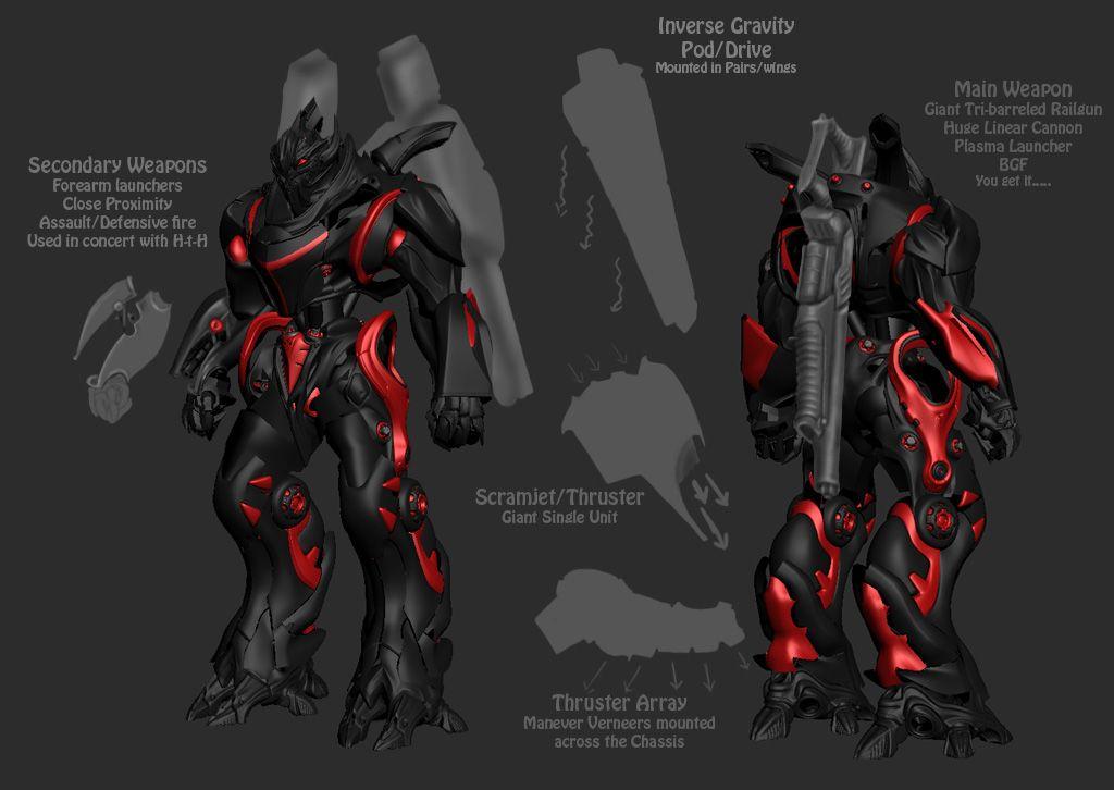 Appleseed Character Design : Mecha powered exoskeleton mobile suit mechas