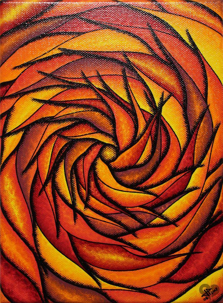 Art #Lover #Place - #Achetez l\u0027#oeuvre #Spirale #rougeoyante