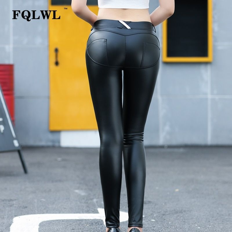 050209b37e981d FQLWL Faux Pu Leder Leggings Dicke/Schwarz/Push Up/Hohe Taille Leggings  Frauen Plus Größe Winter Legging sexy Hosen Frauen Leggins in FQLWL Faux Pu  Leder ...