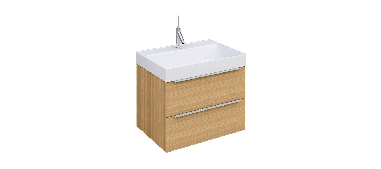 Krofam Zestaw Amber Szafka Z Umywalką Dąb Bursztynowy New Bathroom