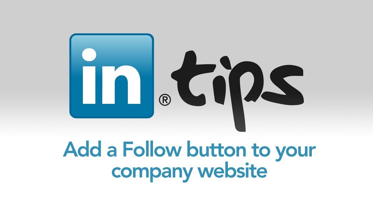 Add a follow button to your company website social media