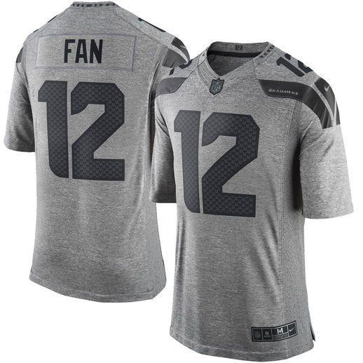 meet 35088 ca426 Nike 12th Fan Seattle Seahawks Gray Gridiron Gray Limited ...