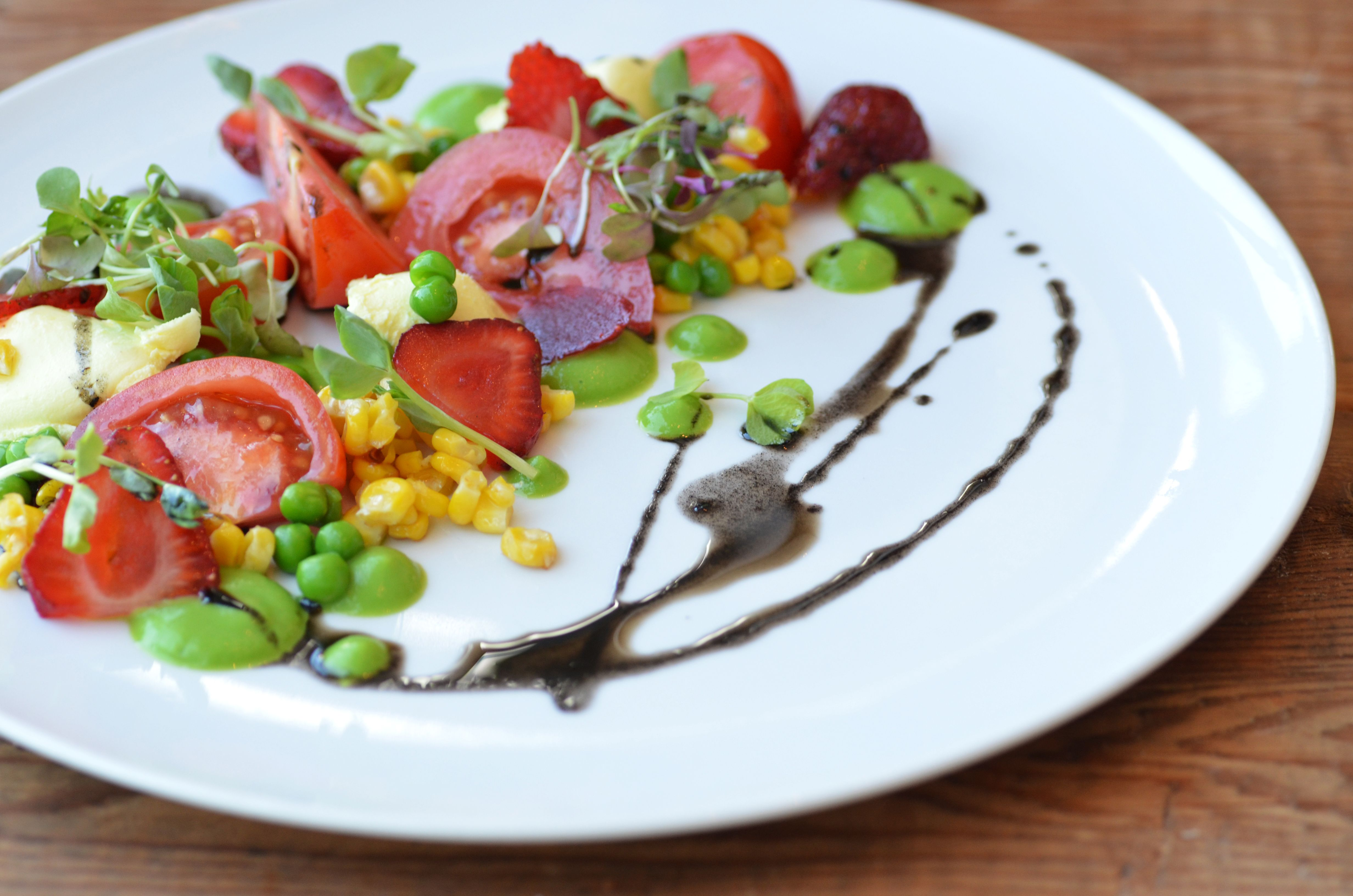 Pickled Ramp, Strawberry and Green Pea Salad   Pea salad, Pickled ...