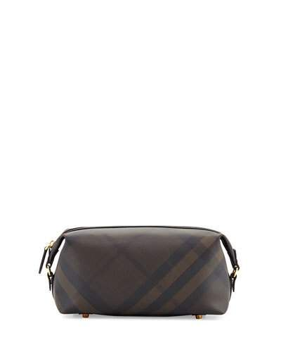 385226694667 BURBERRY LANCE LONDON CHECK TRAVEL TOILETRY CASE