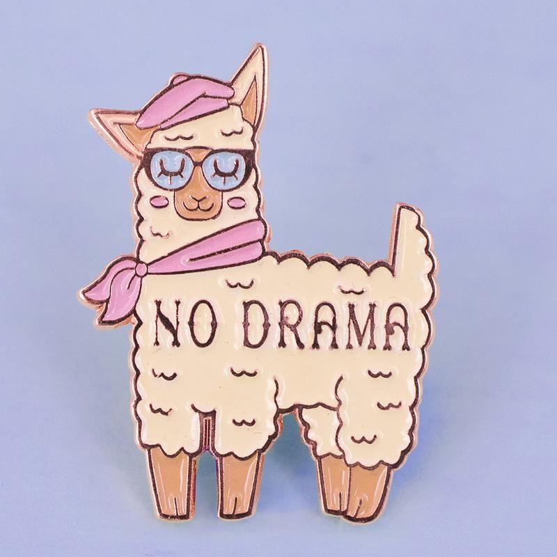 Exceptional No Drama Llama Enamel Pin