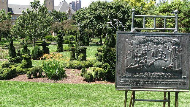 Seurat Inspired Topiary Garden With Images Topiary Garden