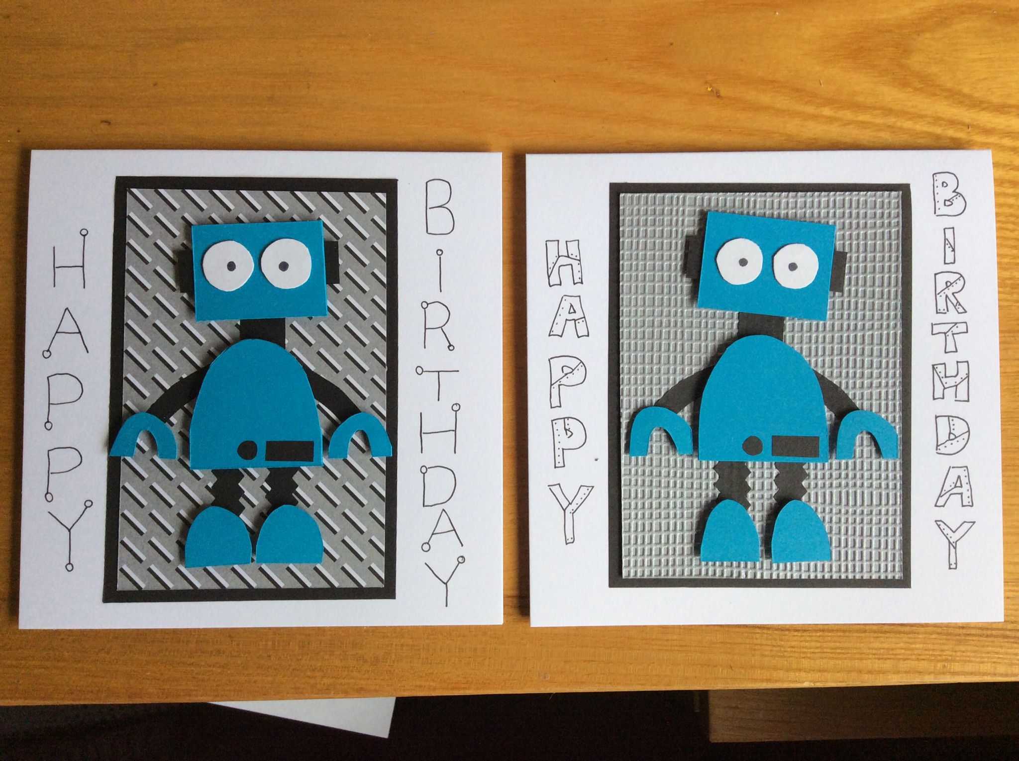 Fun robot boys birthday card made using all my scraps