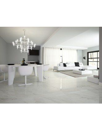 Calacatta White Marble Effect Porcelain Floor Tile 800x800 Home