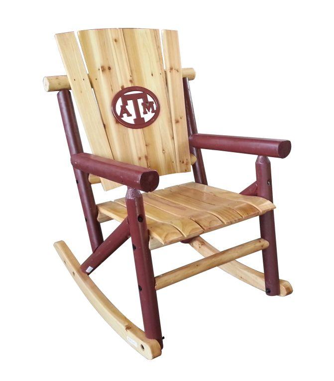 Awe Inspiring Texas Am Rocking Chair On Bourbonandboots Com Texas Unemploymentrelief Wooden Chair Designs For Living Room Unemploymentrelieforg