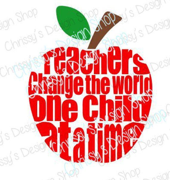 Teacher quote apple SVG cutting file / Teacher SVG / back to