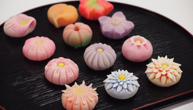 Wagashi are sweets made since ancient times with for Asian cuisine desserts