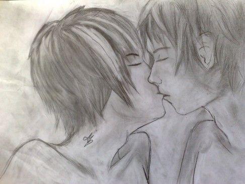 Pencil Drawing Love Hd Wallpaper Drawing People Drawings Of People Kissing Pencil Drawings