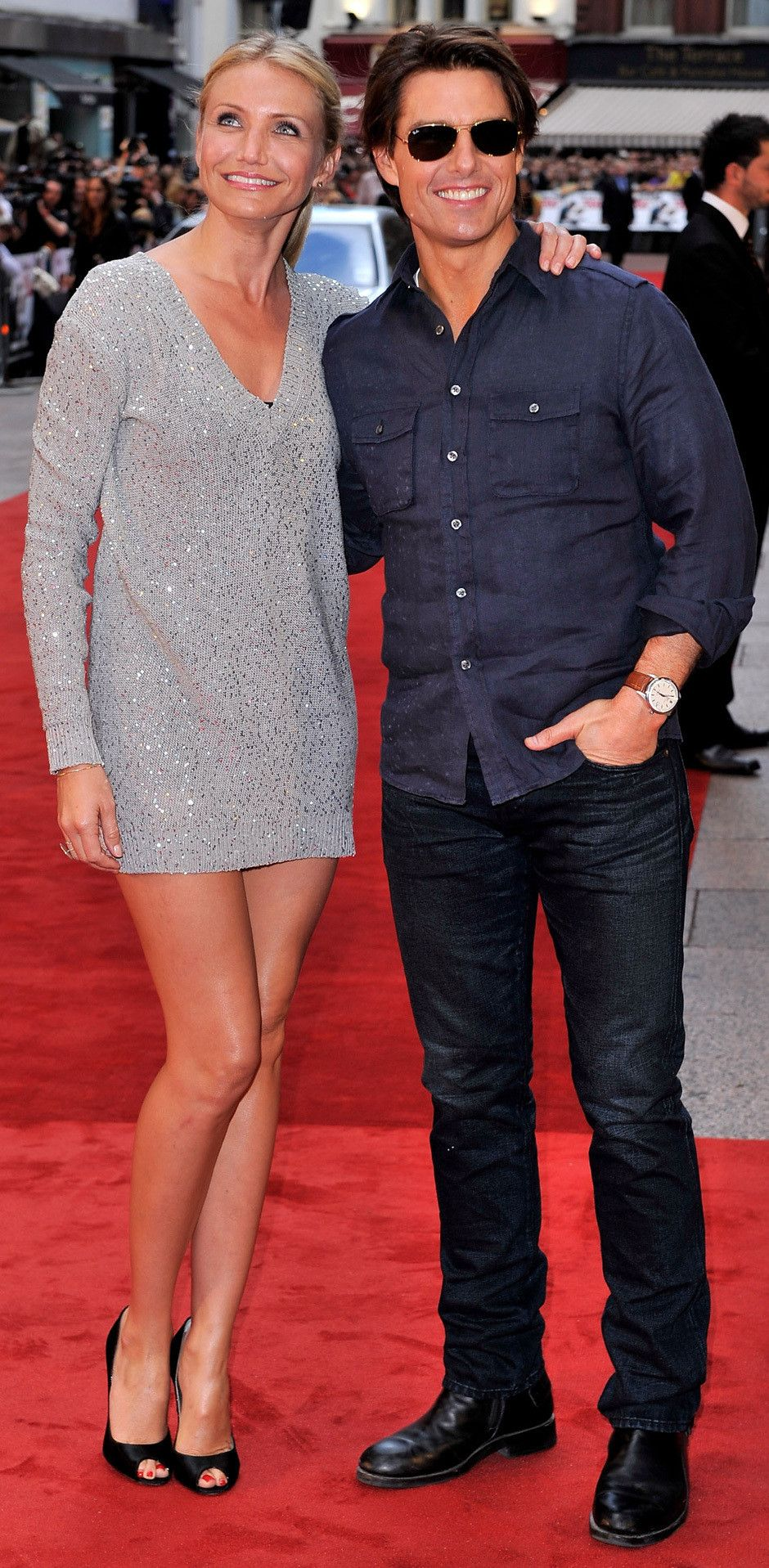 PICS: Cameron Diaz Is In Heels, So How Is Tom Cruise So Tall ...