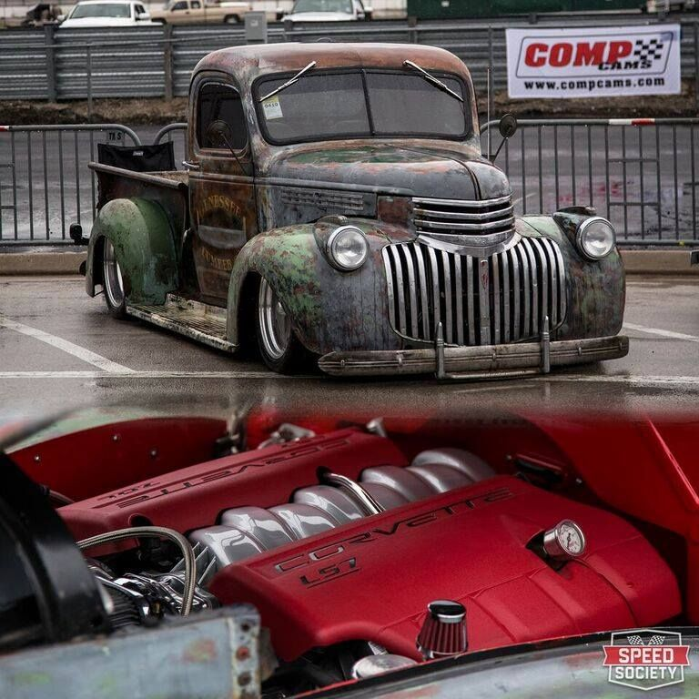 1946 47 chevy rat rod with ls7 power under the hood vehicles rh pinterest com Chevy Truck Wiring Schematics Chevy Truck Wiring Harness