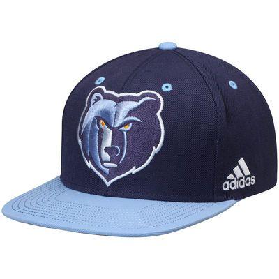 Men s Memphis Grizzlies adidas Navy Light Blue On-Court Adjustable Snapback  Hat a8e55403844d