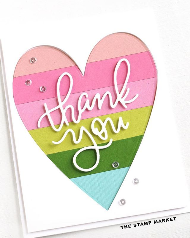 #cardmaking #papercrafting #thankyoucard #thankyou #diystationery #hearts #rainbow #diecutting #clearstamps #handmadecards