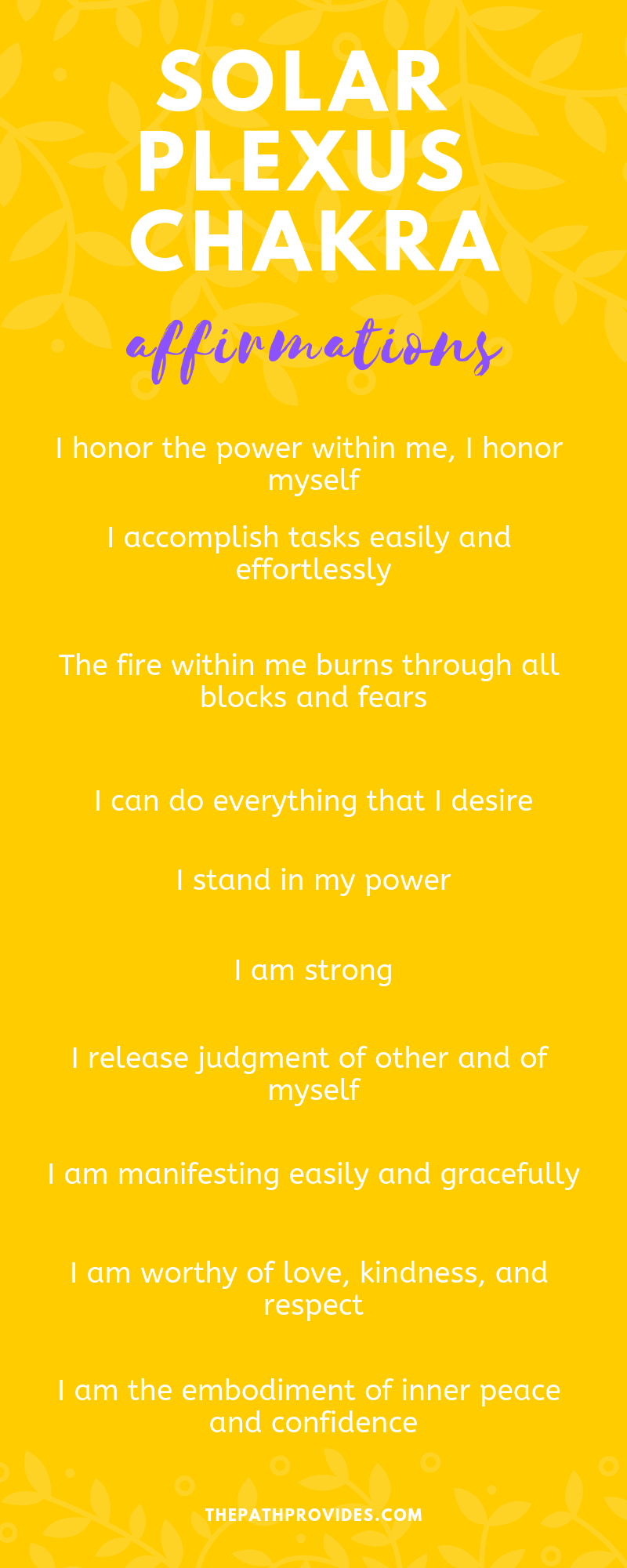 10 Powerful Solar Plexus Chakra Affirmations for Balancing your Third Chakra — The Path Provides