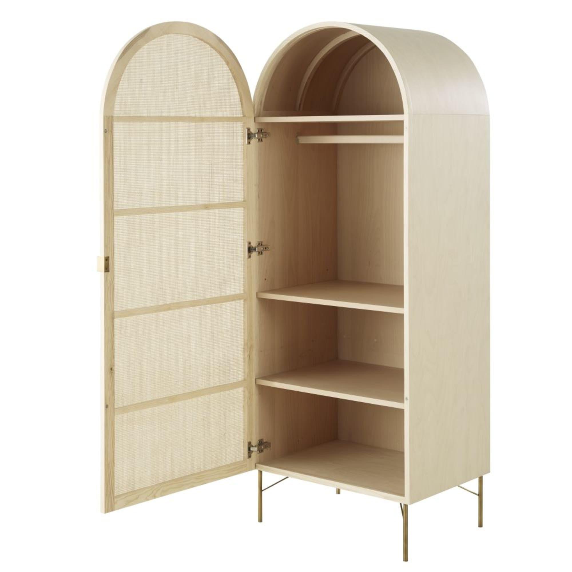 1 Door Woven Rattan Wardrobe In 2020 Rattan Furniture Home