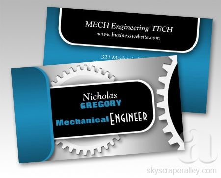Blue mechanical engineer gear business cards business related pin it thank you teresa in oklahoma for your purchase of these blue mechanical engineer gear business cards from skyscraper alley designs flashek Choice Image
