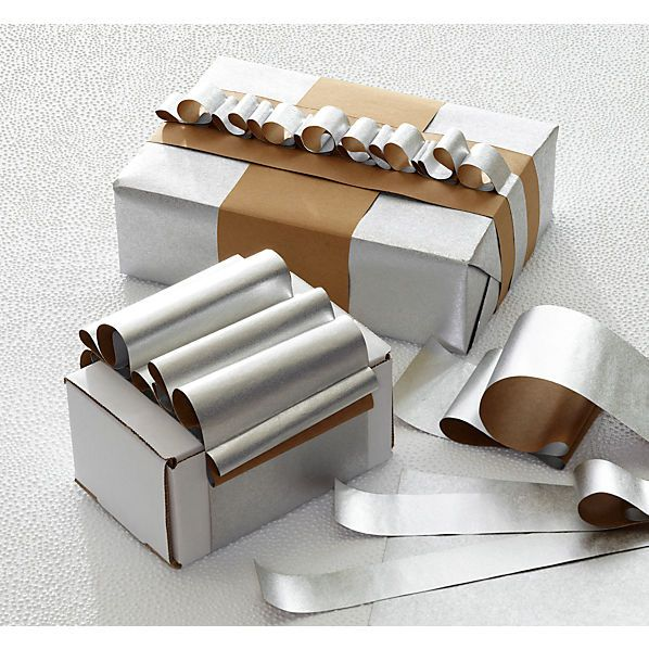reversible silver and kraft wrap.