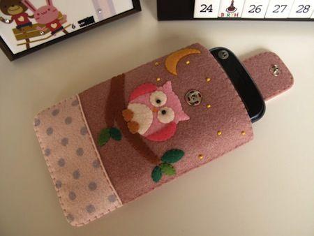 feltlang handmade iphone cases #owl #diy