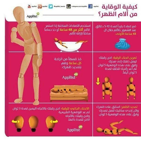 كيفية الوقاية من الام الظهر Health Fitness Nutrition Family Health Health Lifestyle
