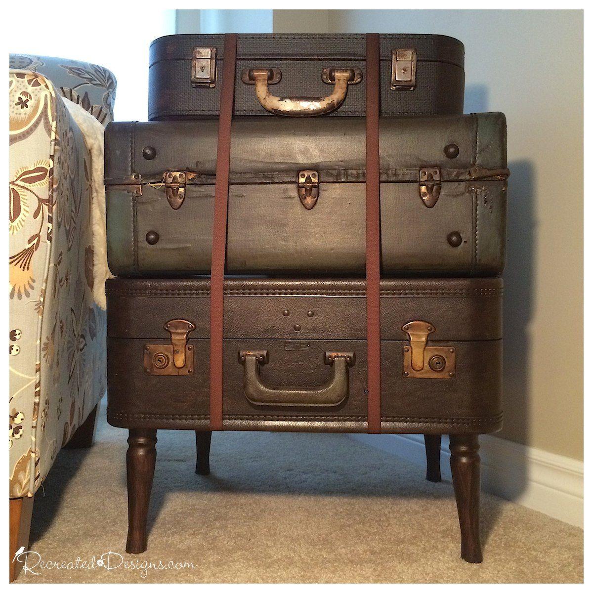 How To Make Vintage Suitcase Side Table Woonkamerdesign Meubels