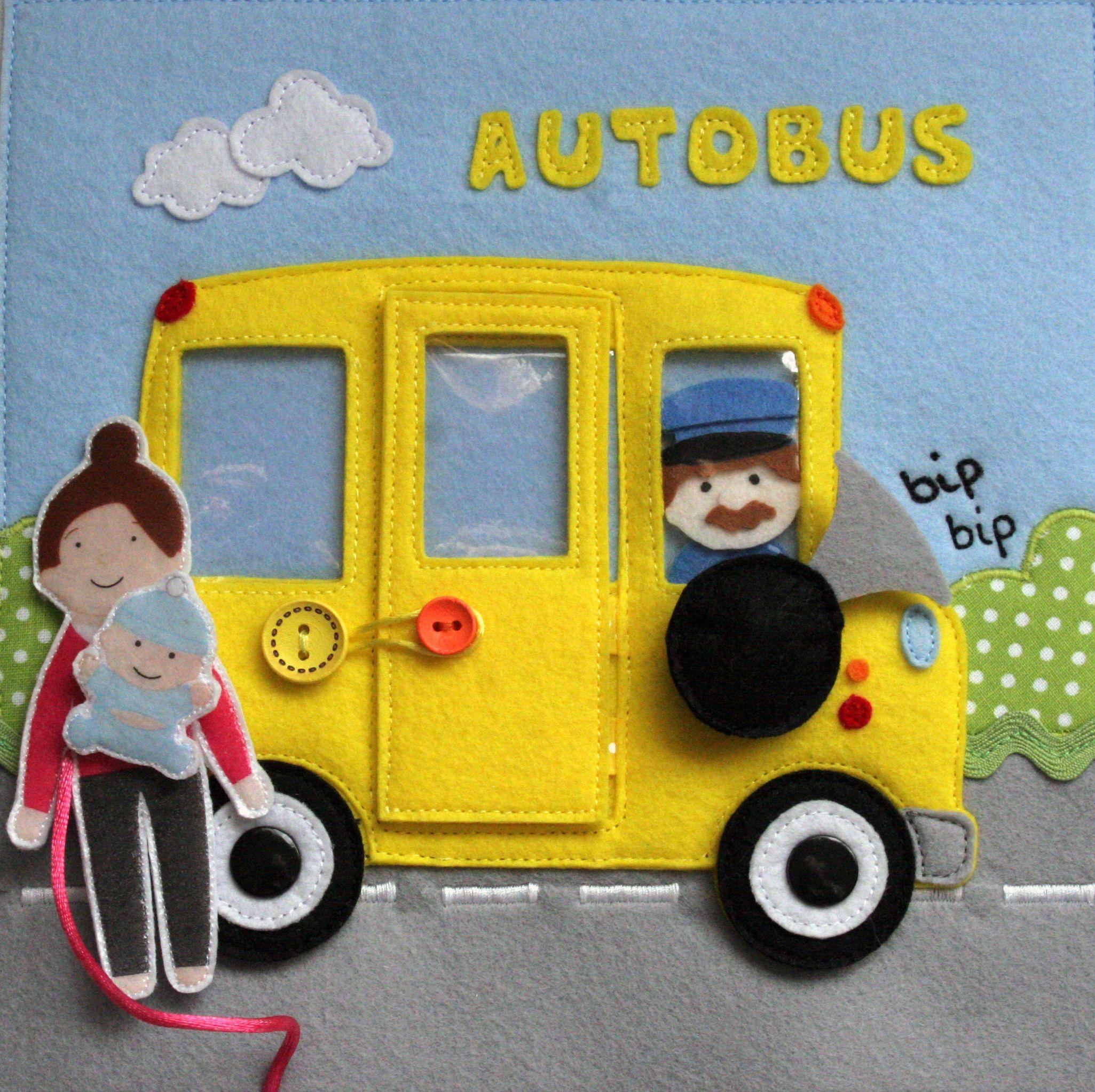 Autobús - Quiet Book | miTEA Libros Sensoriales | Pinterest | Libro ...