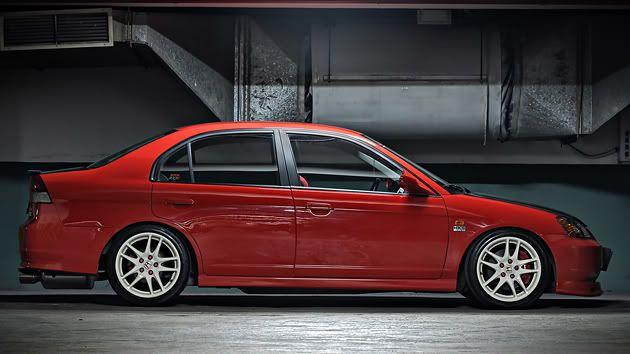 Pimped Out Honda Civic Si Epic Red ES1 Sedan   7...