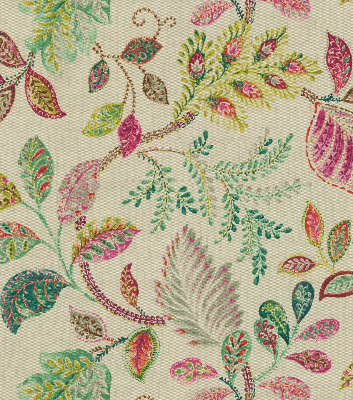 Create lovely projects with this elegant home décor fabric flowing graceful floral design with vibrant colors this design will easily complement any home