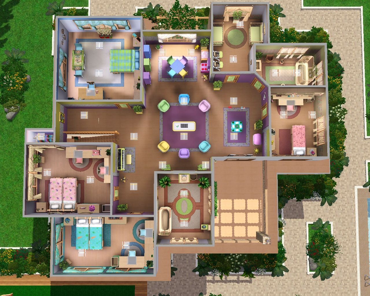 Beau Sims 3 Legacy House Floor Plan   House And Home Design