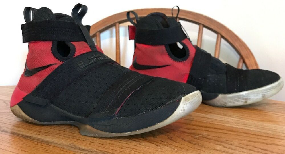 cheaper 76ef5 8d4d0 NIKE Zoom Lebron Soldier X 10 Black Red Shoes Youth Boys Size 7 845121-006  EU 40  fashion  clothing  shoes  accessories  kidsclothingshoesaccs   boysshoes ...