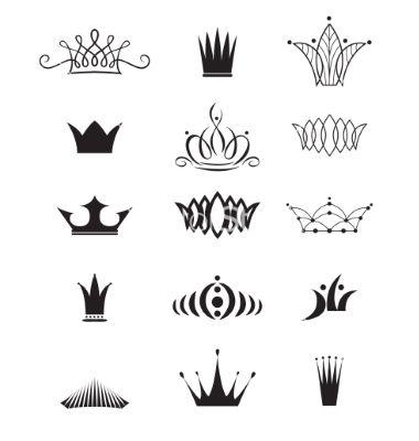 Modern crowns vector 3564629 - by Firin on VectorStock®