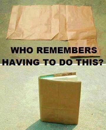 Paper bag book covers for school | Childhood