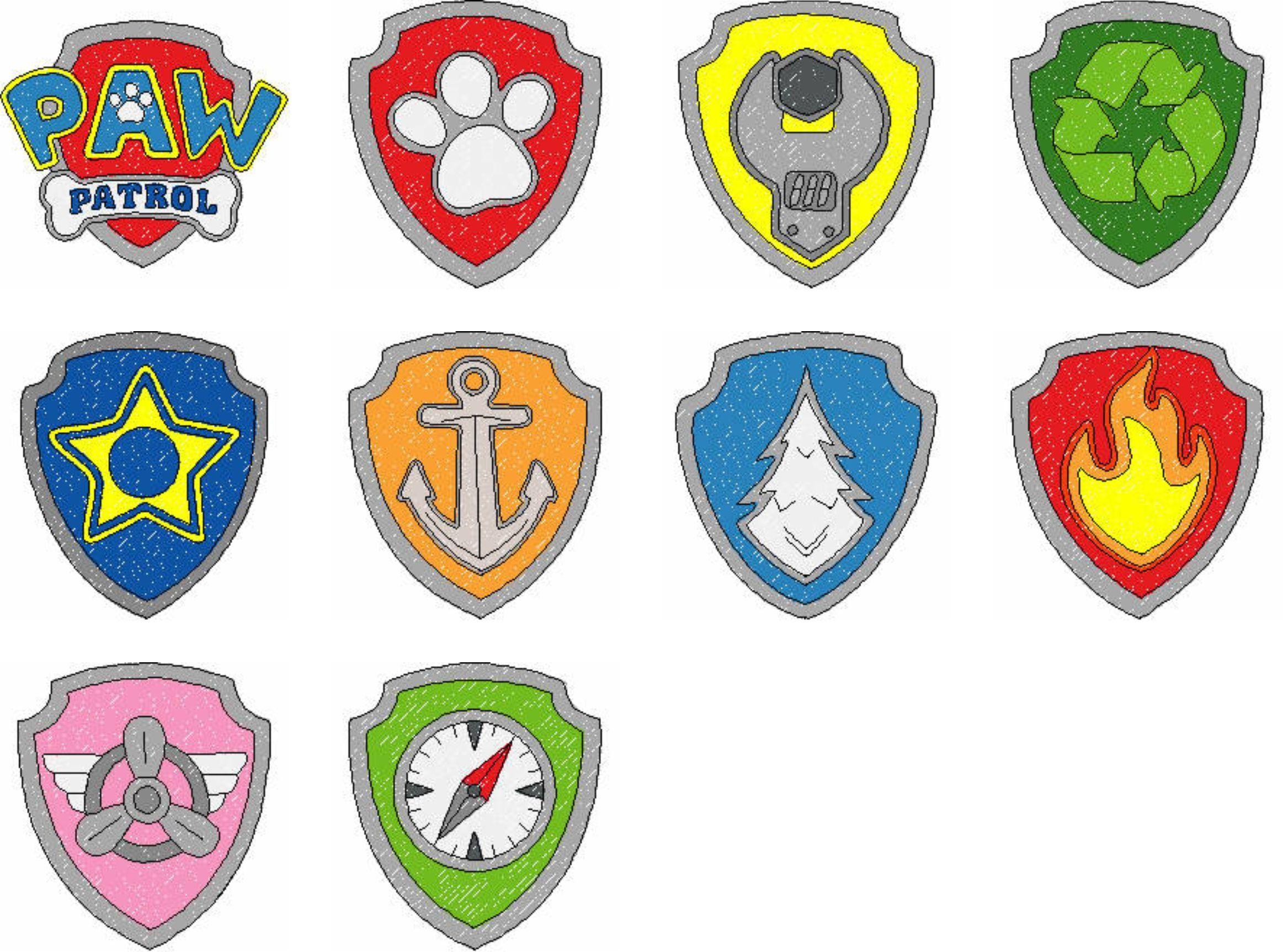Paw Patrol Badges Paw patrol coloring, Paw patrol badge
