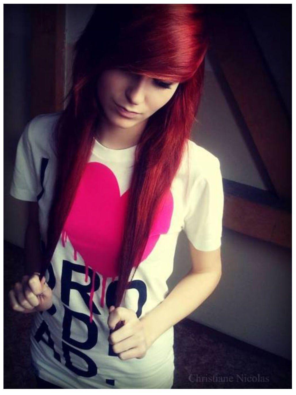 Red scene hair hair ideas pinterest red scene hair scene hair