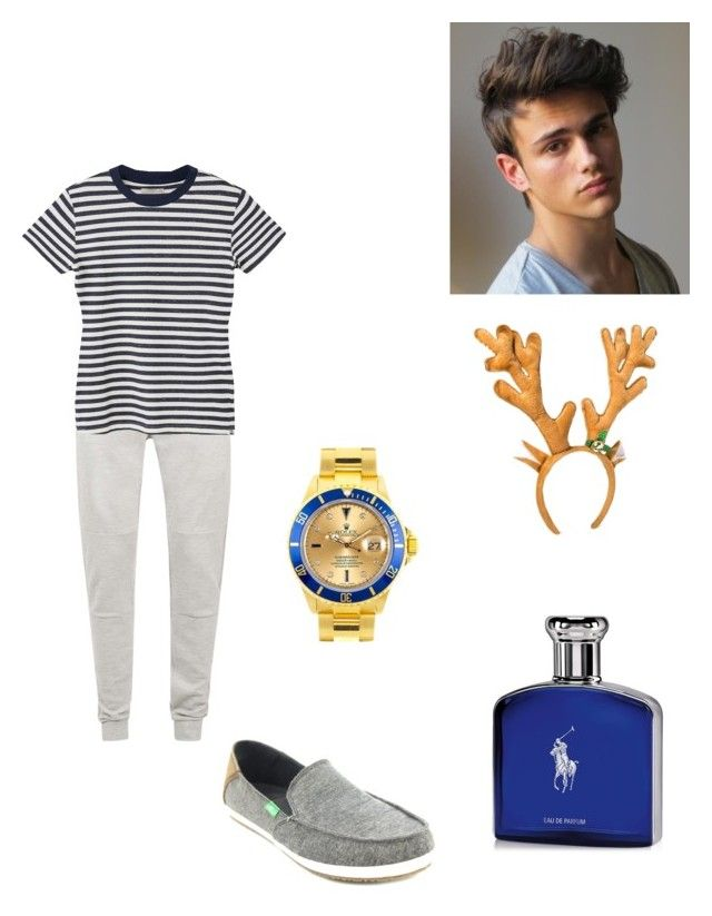 """Alex Christmas morning"" by biermann ❤ liked on Polyvore featuring Topman, MANGO MAN, sanuk, Ralph Lauren, Rolex, men's fashion and menswear"