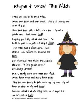 have fun with this little draw and rhyme witch freebie see my tpt store for more like this what a fun and creative way to teach rhyming words