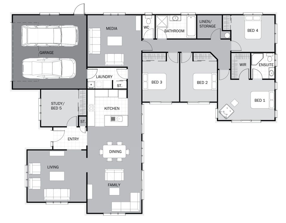 Moorea Signature Homes House Plans Dream House Plans New House Plans House floor plan nz