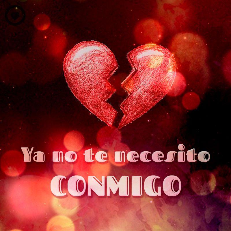 Frase Corta De Amor Desesperado Con Imagen De Corazón Roto