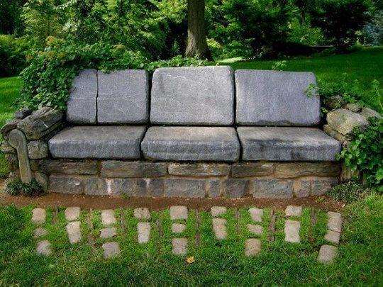 pierre banc de jardin - Google zoeken Garden Pinterest Gardens - banc de jardin en pierre