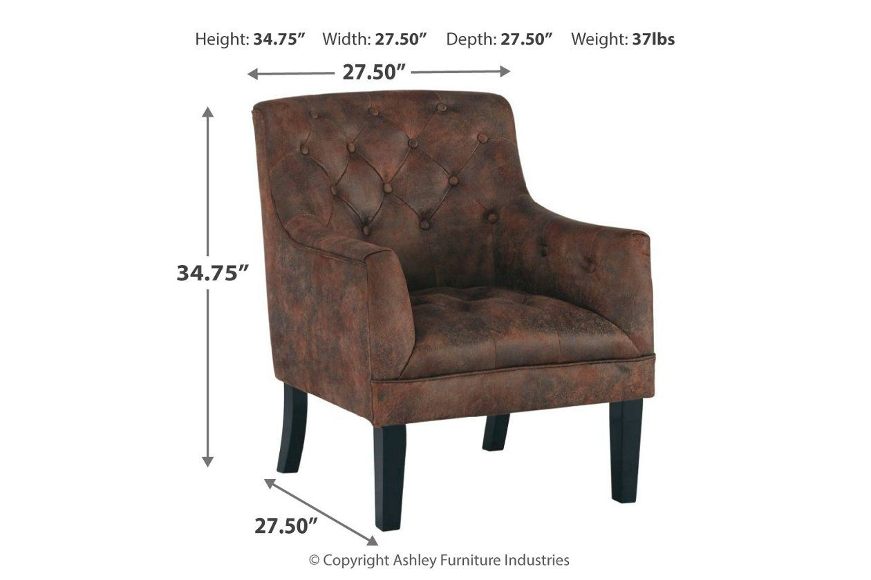 Drakelle Accent Chair Ashley Furniture Homestore In 2020 Brown Leather Loveseat Furniture Ashley Furniture Industries