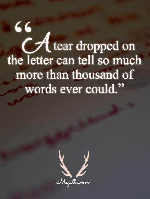 Tears Love Quotes Thoughts