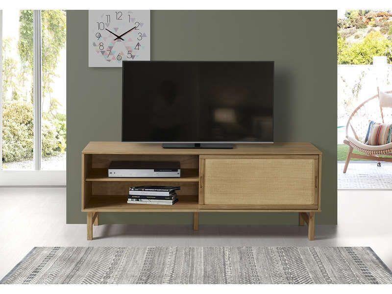 Meuble Tv 140 Cm 679357 En 2020 Meuble Meuble Tv Meuble Tv Conforama