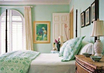 Los Dormitorios En Color Verde Menta Son La Ultima Tendencia En Decoracion De Interi Combinaciones De Colores Del Dormitorio Dormitorios Dormitorio Verde Menta